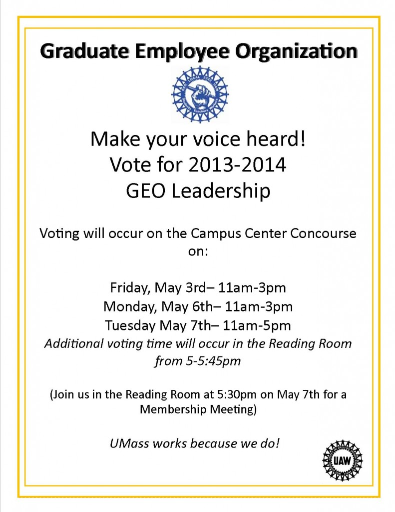 GEO Voting Announcement