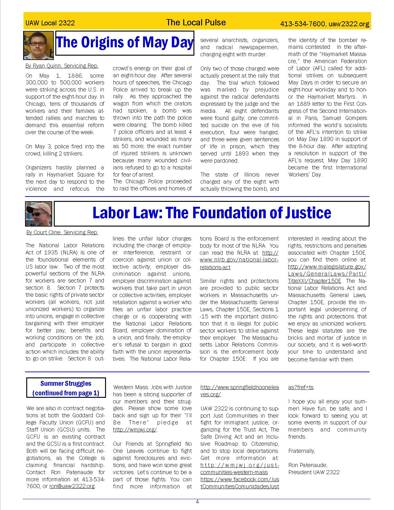 2322 Newsletter May page 4