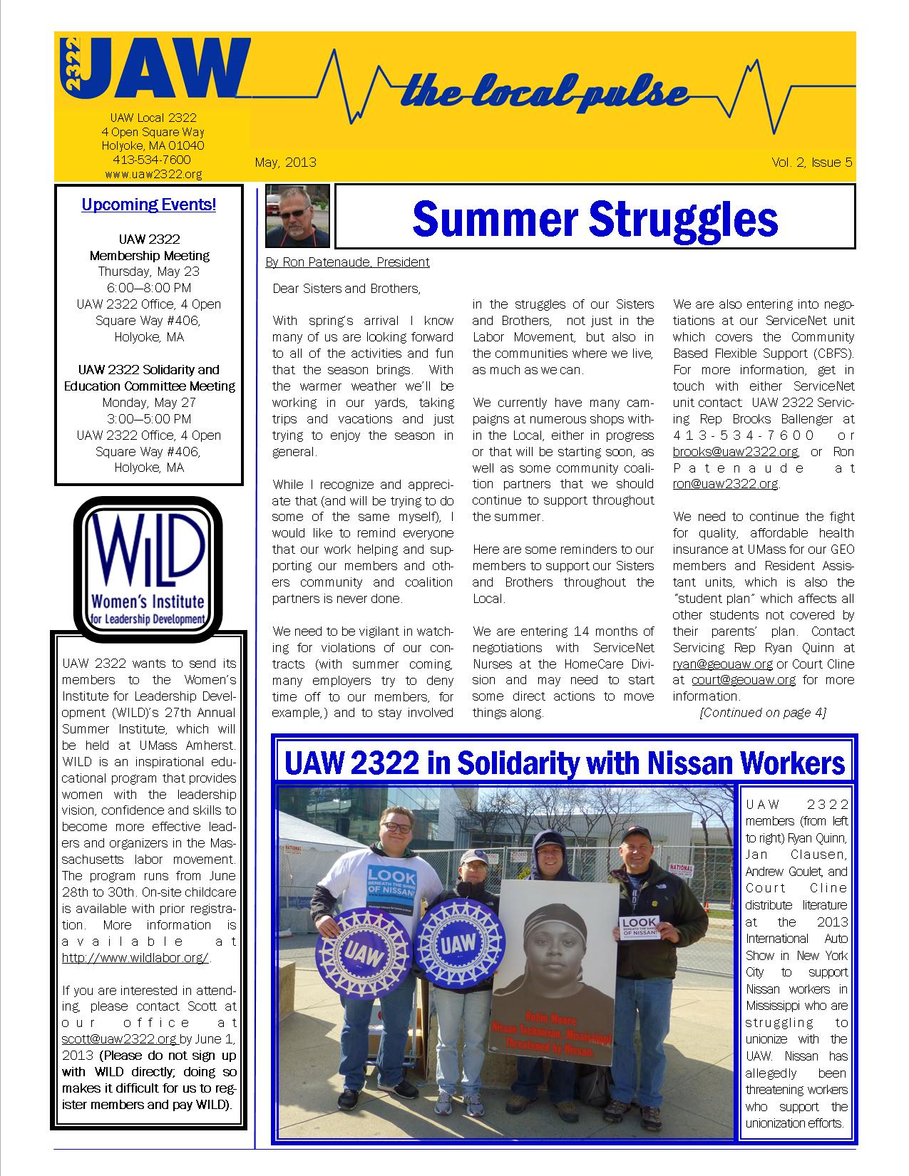 2322 Newsletter May