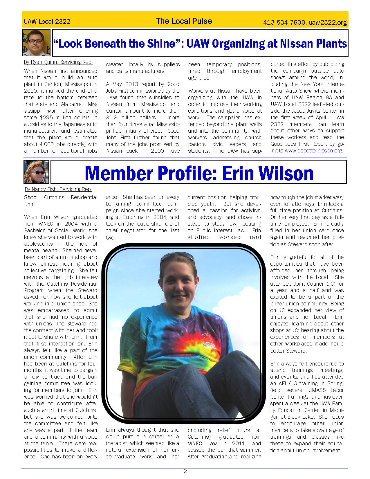 2322 Newsletter June Page 2