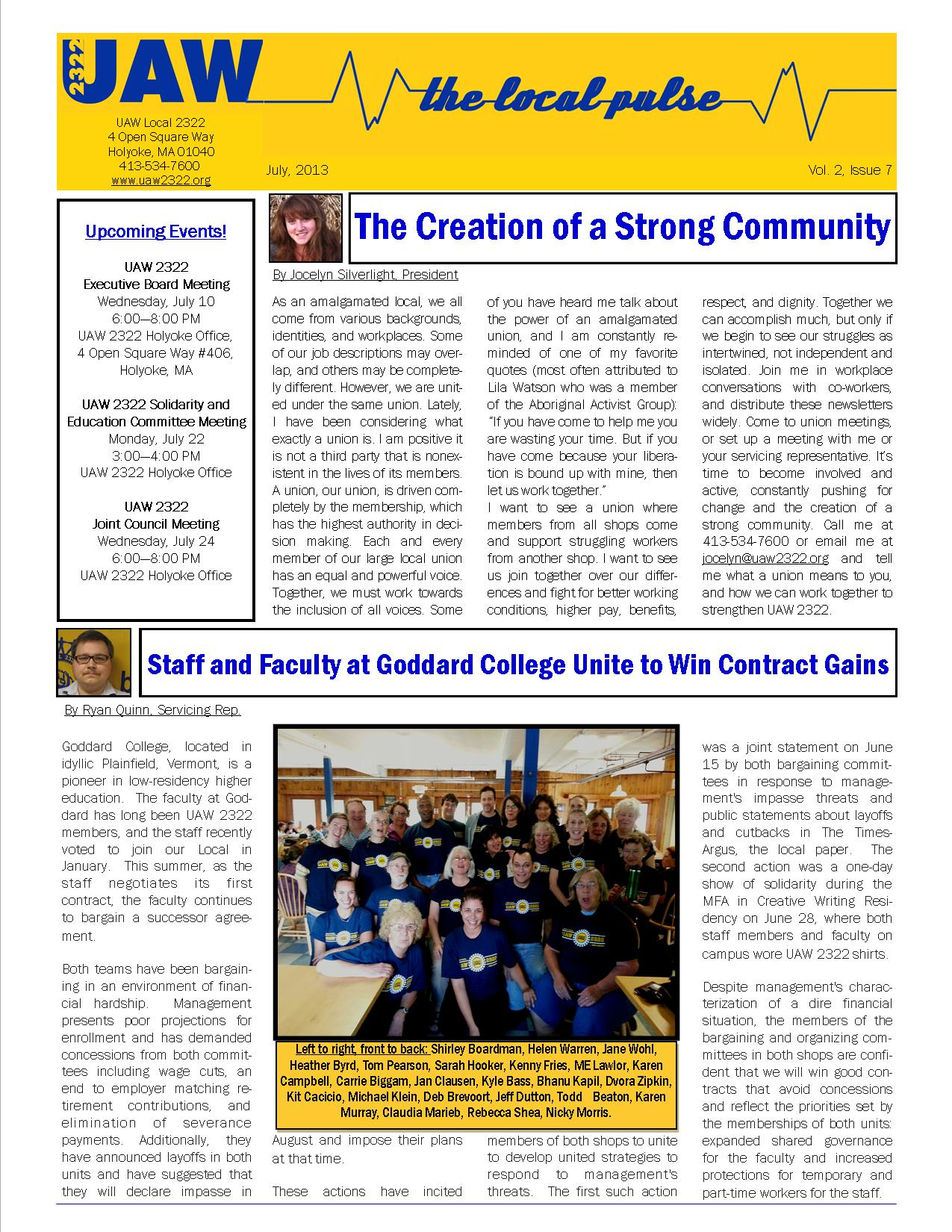 2322 Newsletter July page 1