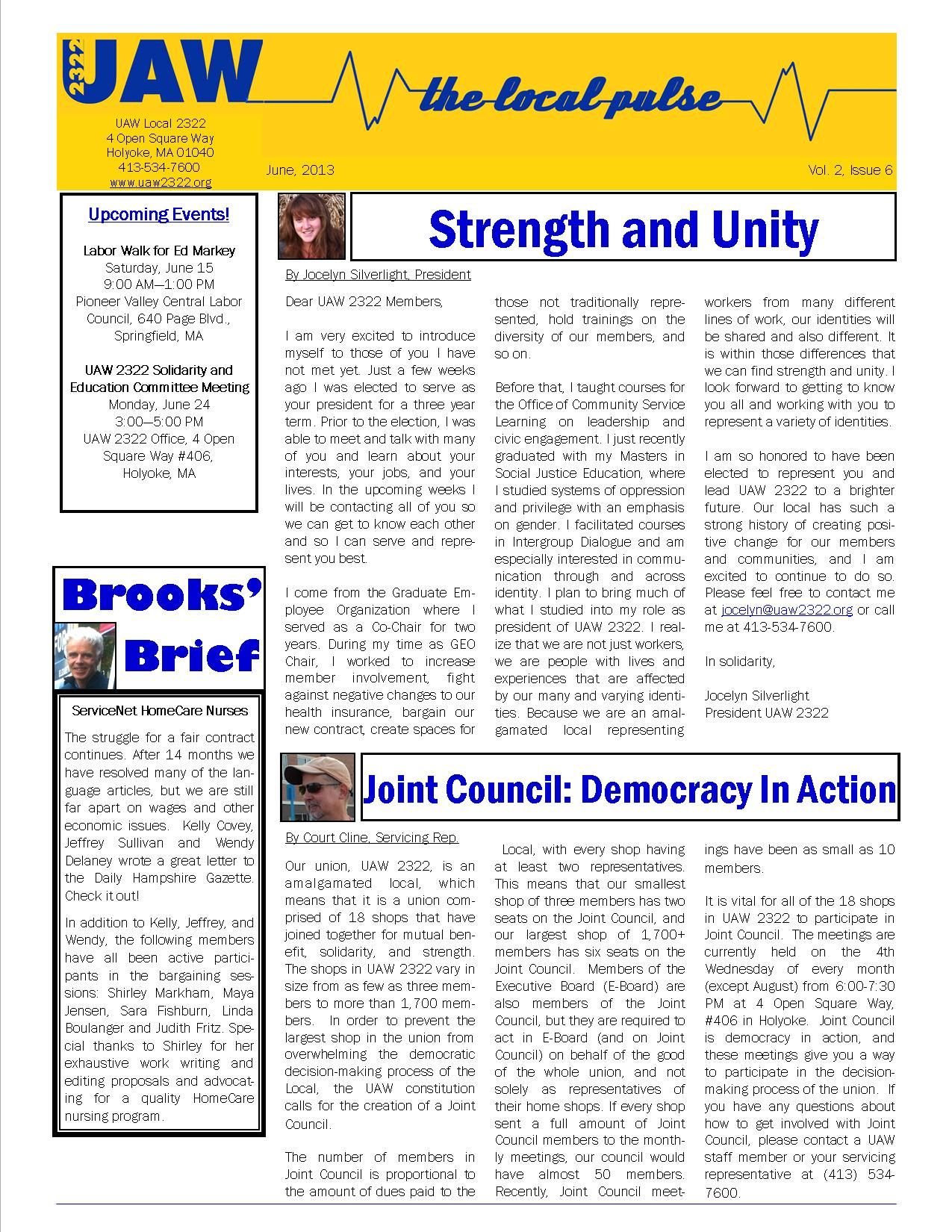 2322 Newsletter June Page 1