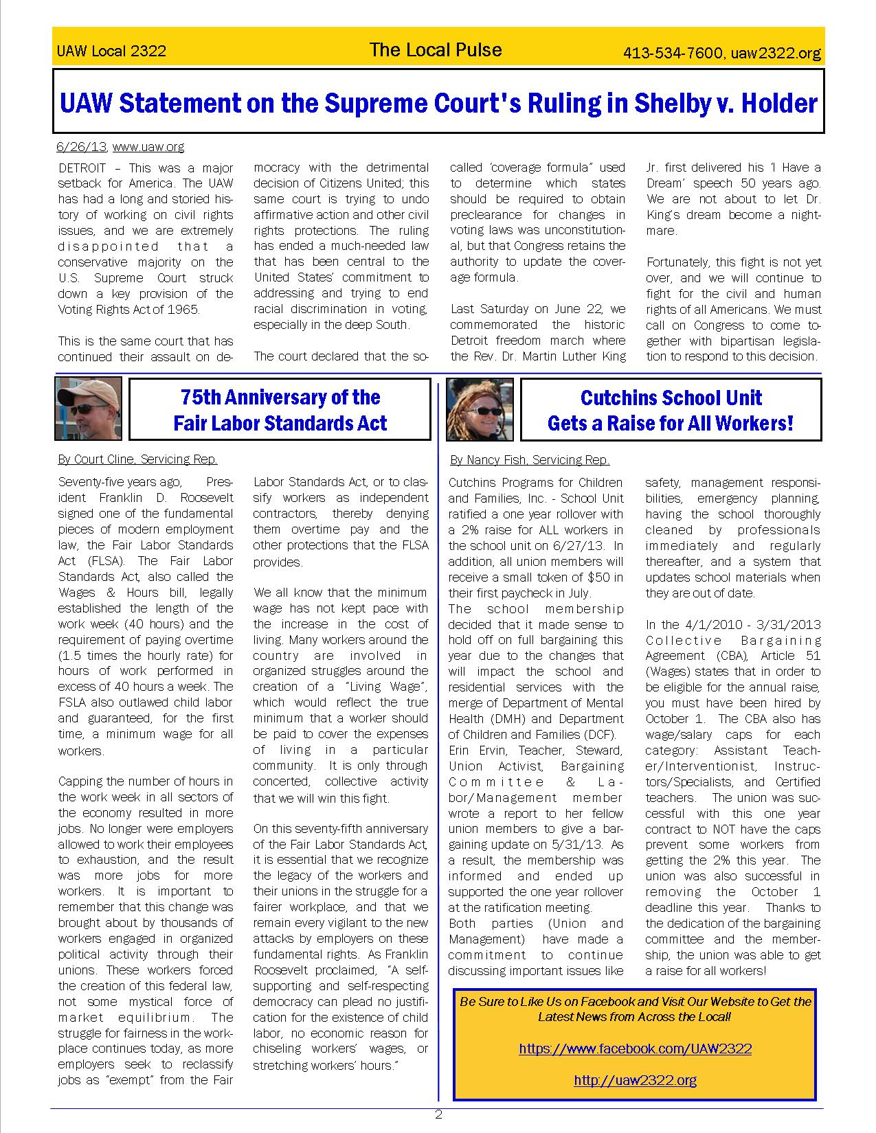 2322 Newsletter July page 2
