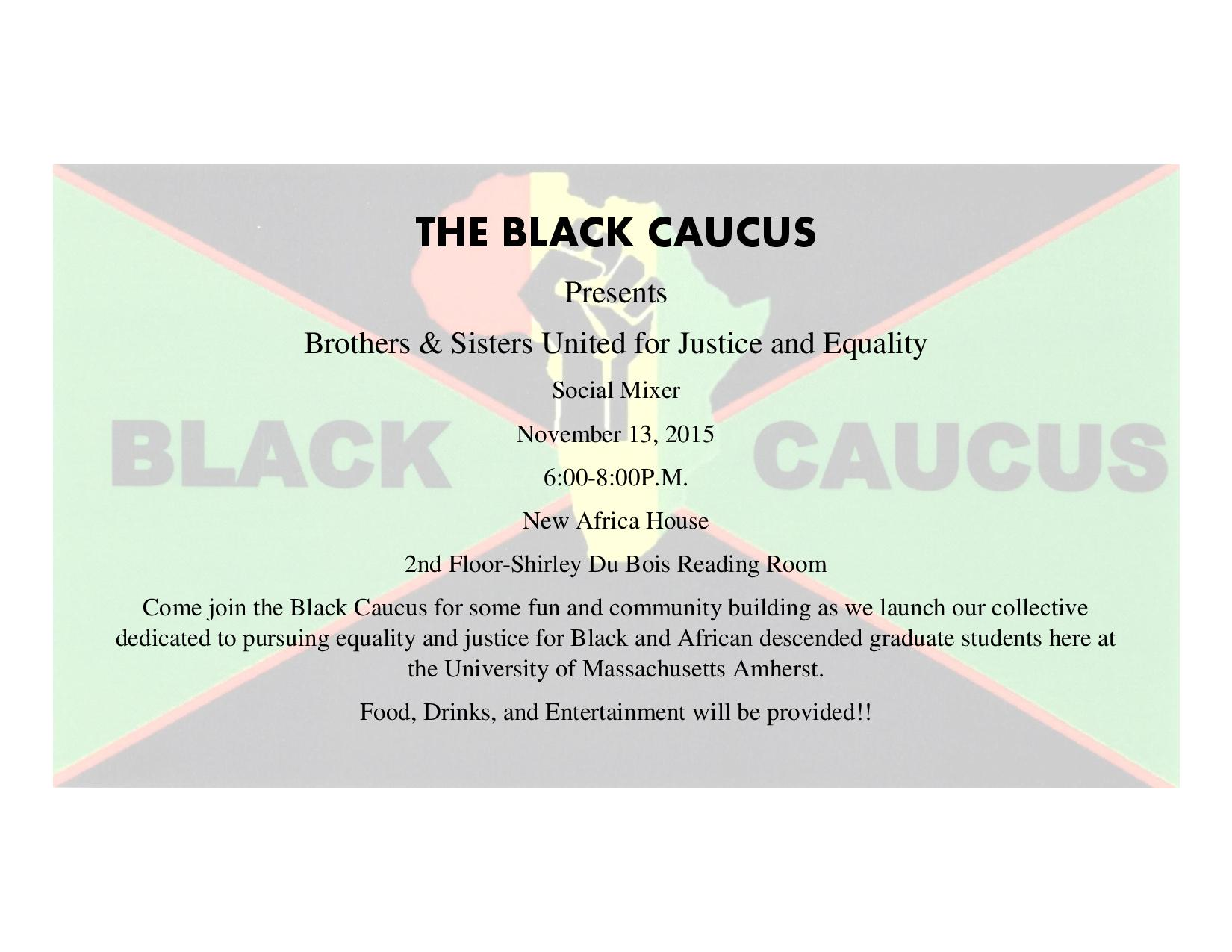 GEO Black Caucus Social Mixer on November 13